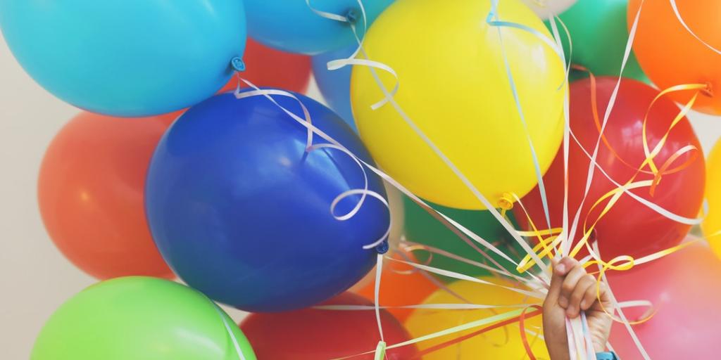 Jarig: feestelijke ballonnen